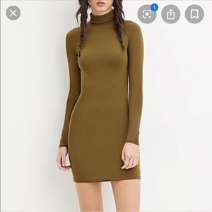 Dresses - Long Sleeve Dress with Mock Neck